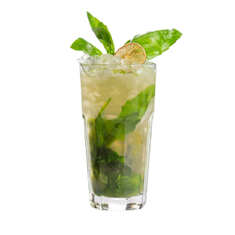 Holla Spirits Recipes- Basil Citrus Spritz